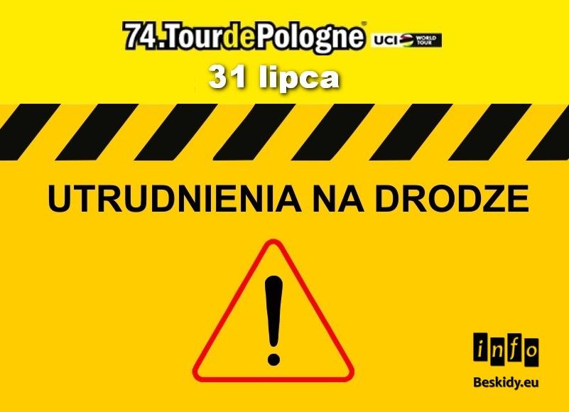 Zamknięcie głównych dróg przez Wisłę