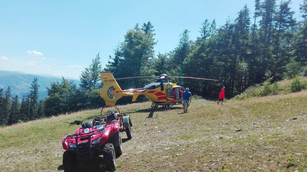 Lądowanie w Beskidach