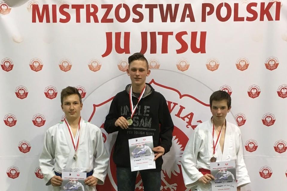 Bartosz Baczyński z  medalem