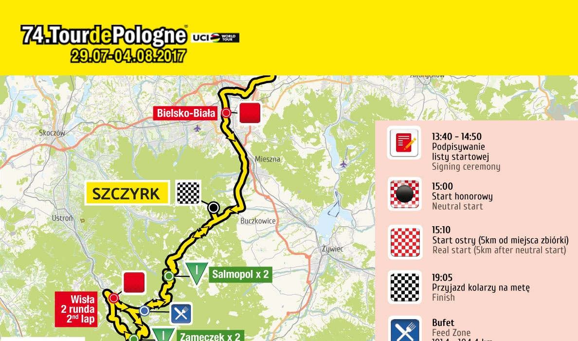 Tour de Pologne  zawita w Beskidy