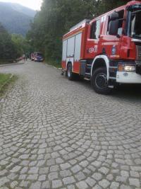 Pożar kompleksu leśnego w Ustroniu