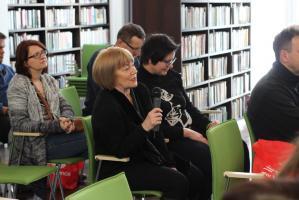Tomasz Zimoch w bibliotece