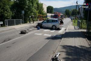 Wypadek w Ustroniu