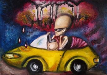 Sprzedam trzy obrazy olejne – Tryptyk Surrealistyc
